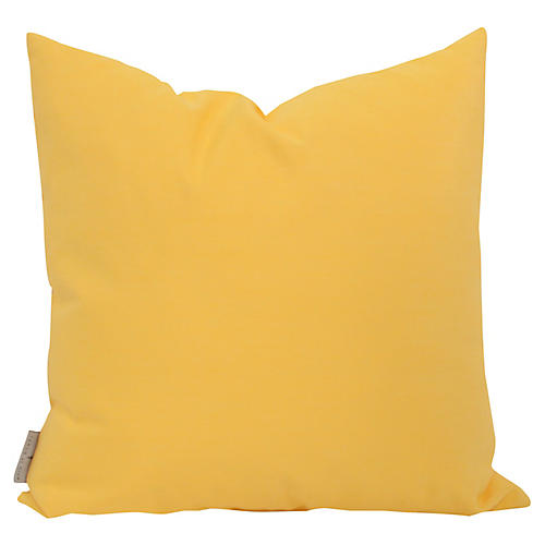 Outdoor 18x18 Toss Pillow, Yellow