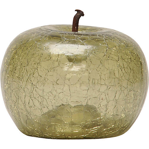 Eve Petite Cracked Glass Apple, Olive