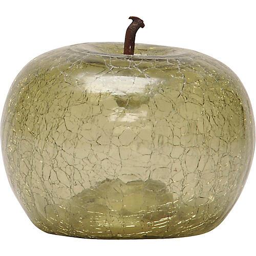 Eve Petite Cracked Glass Apple, Olive