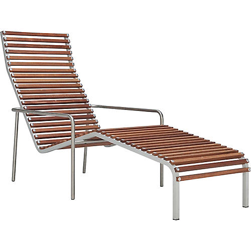 Ex Tempore Chaise, Silver/Brown
