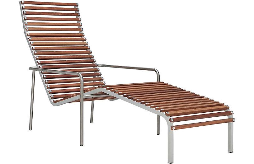Ex Tempore Chaise, Silver/Brown