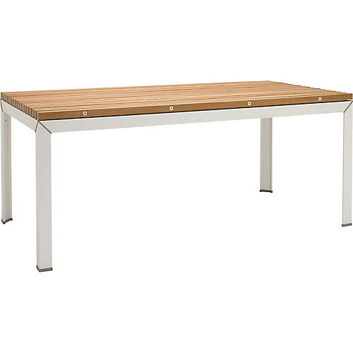 Ex Tempore Dining Table, Silver/Brown