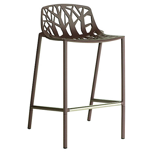Forest Low-Back Counter Stool, Espresso