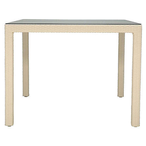 Outdoor Dining Table, Limestone