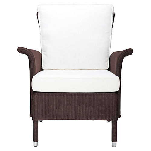 Jackson Club Chair, White