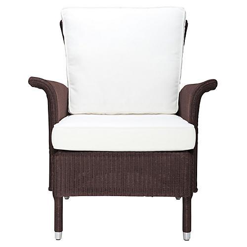 Jackson Club Chair, White