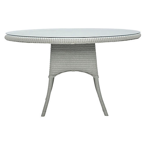 Nimes Round Dining Table, Gray