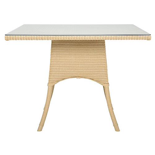 Nimes Square Dining Table, Natural
