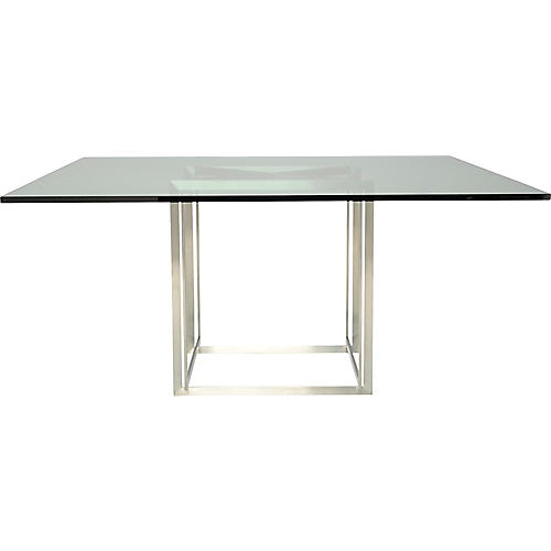 Fibonacci Landa Dining Table, Silver