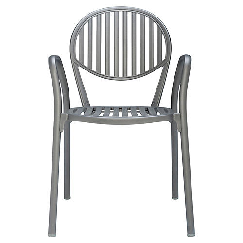Olympia Armchair, Metallic Gray