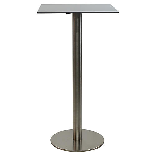 Oasis I Square Bar Table, Gray/Black