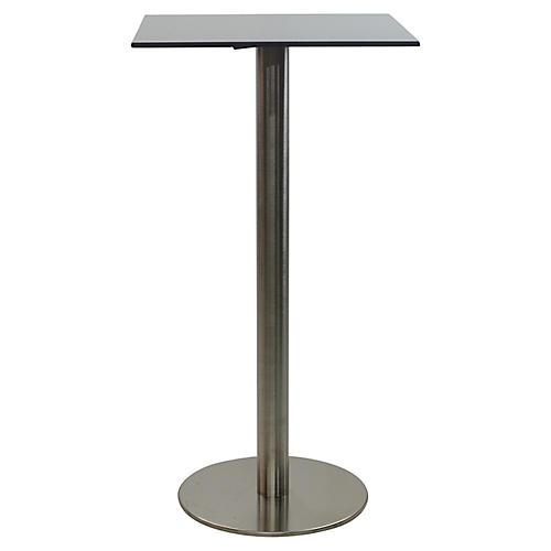 Oasis I Square Bar Table, Gray/Black