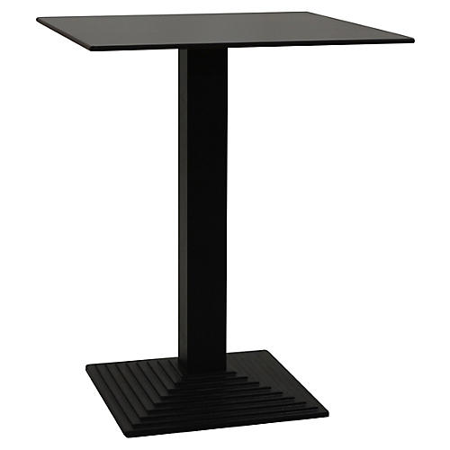 Tubular Square Bar Table, Black