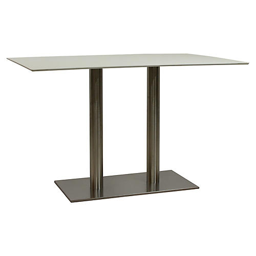 Duet Rectangular Dining Table, Gray/Ivory