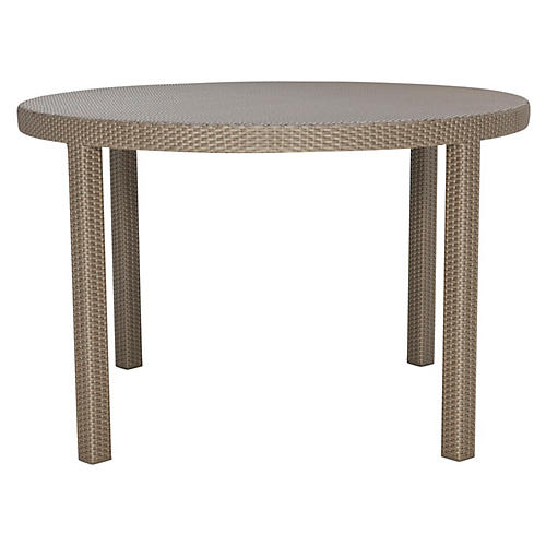 Woven Round Bistro Table, Light Brown