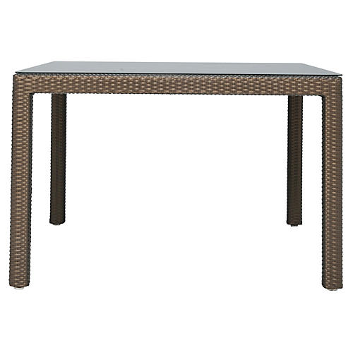 Continental Square Bistro Table, Brown