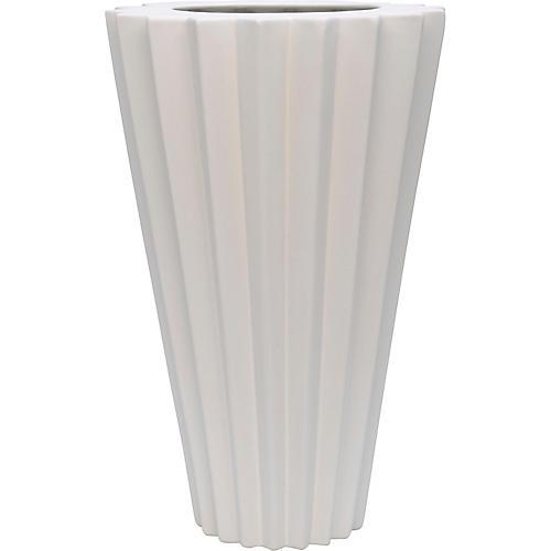 "18"" Arris Grande Vase, White"