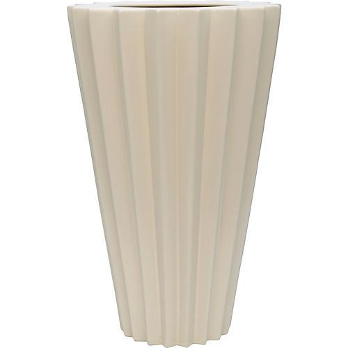 """18"""" Arris Grande Vase, Alabaster"""