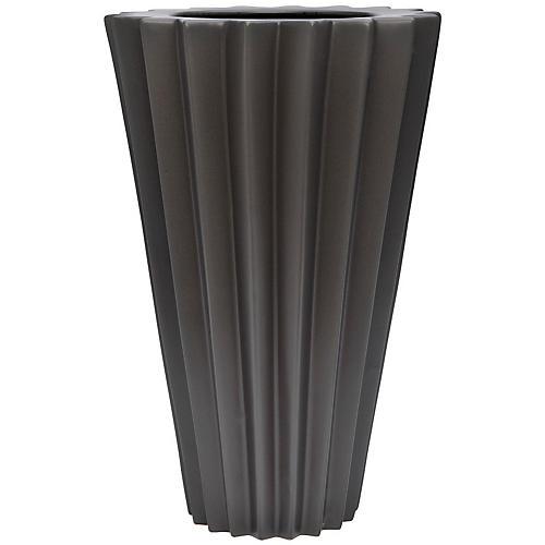 """18"""" Arris Grande Vase, Gunmetal"""