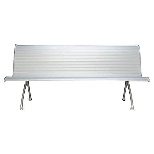 Mr. H Outdoor Bench, Silver
