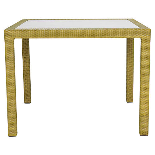JANUSfiber Outdoor Dining Table, Bamboo Green