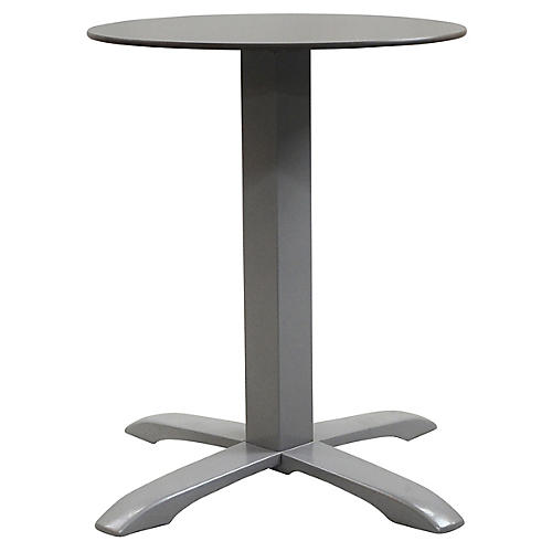 Easy I Round Outdoor Bistro Table, Pewter