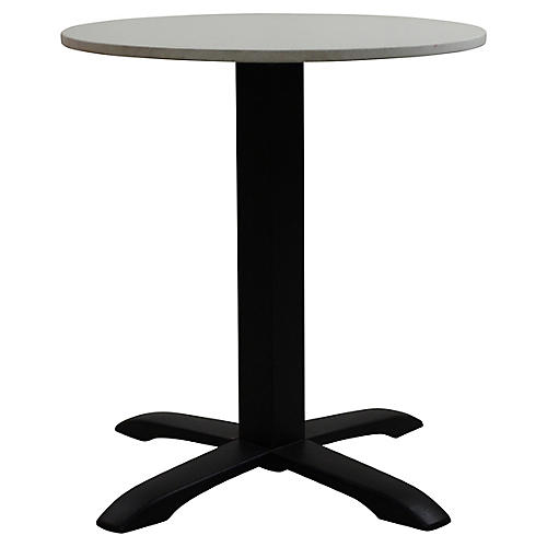Easy I Outdoor Bistro Table, Black/Ivory