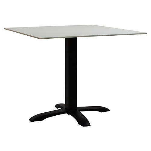 Easy II Square Outdoor Dining Table, Black/White