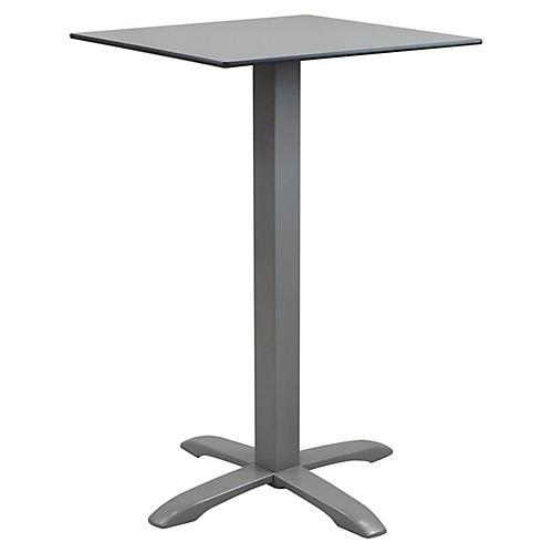 Easy Outdoor Bistro Table, Silver/Gray