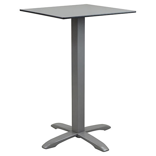 Quad Square Outdoor Bistro Table, Gray