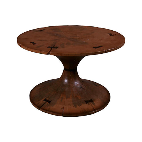 Tacy Circular Side Table, Walnut