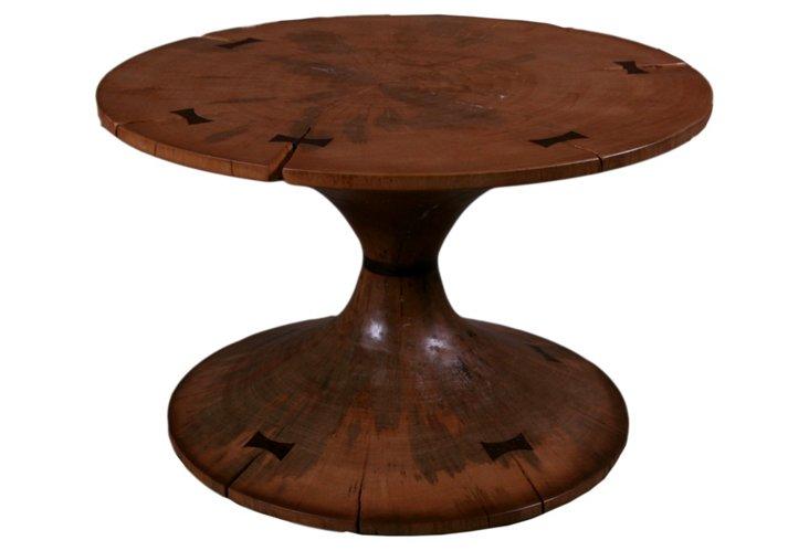 Tacy Circular Side Table, Walnut