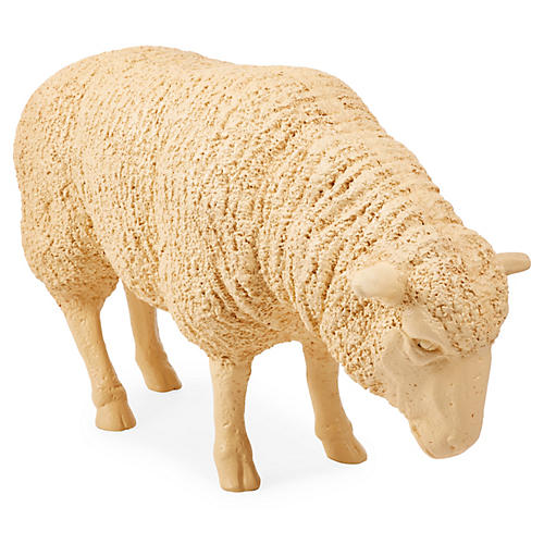 Decorative Resin Sheep, White