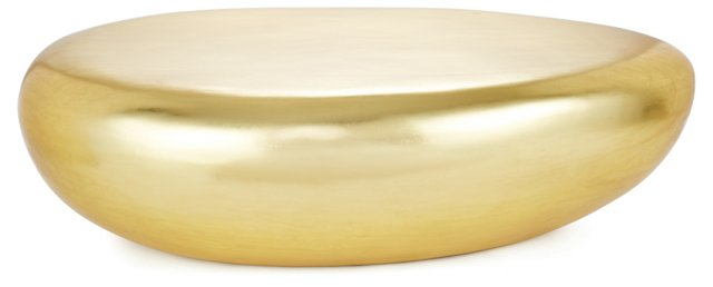 "Riverstone 55"" Cocktail Table, Gold"