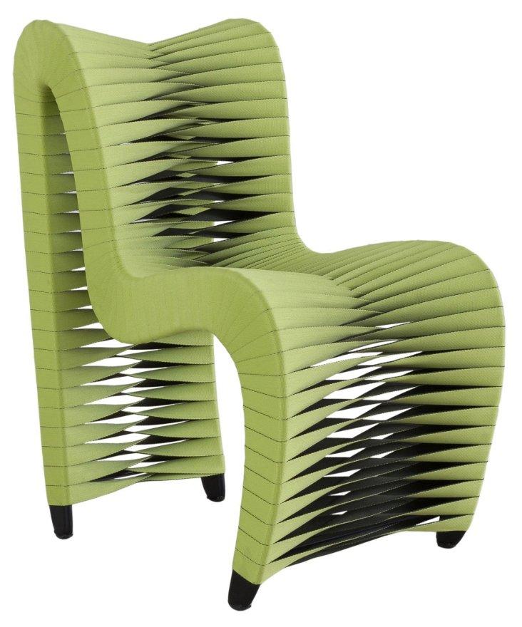 Seat-Belt Dining Chair, Green