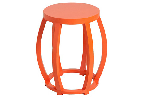Cole Side Table, Orange