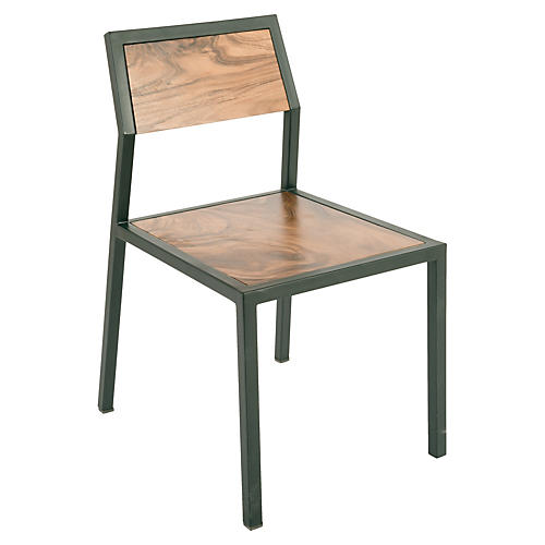 Crook Chair, Natural/Black