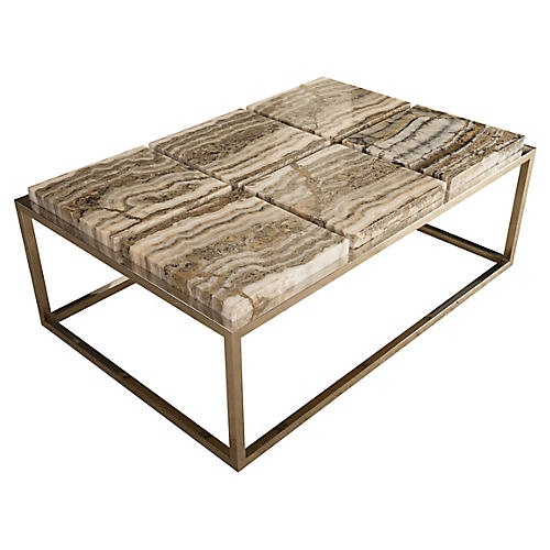 "46"" Onyx Coffee Table, Natural"