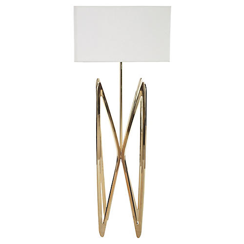 Butterfly Floor Lamp, Polished Brass