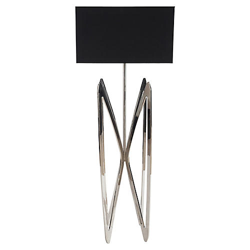 Butterfly Floor Lamp, Stainless Steel
