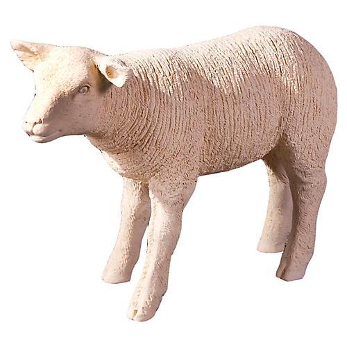 "25"" Standing Lamb Figure, Cream"