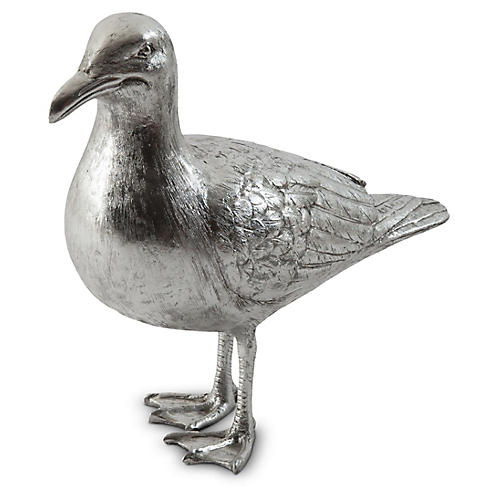 """19"""" Seagull Figure, Silver"""