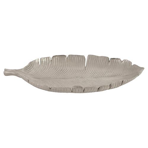 Banana Leaf Tray, Silver