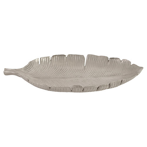 Banana Leaf Tray, Silver