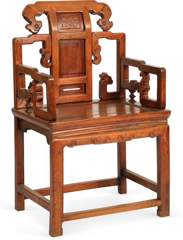 19th-C. Chinese Hall Chair II
