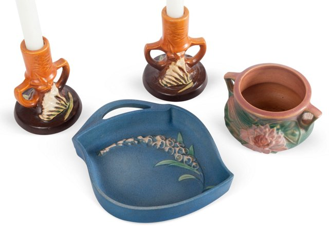 Roseville Pottery Collection, 4 Pcs.