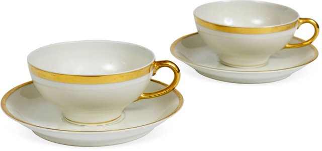 Spode Teacup & Saucer, Pair