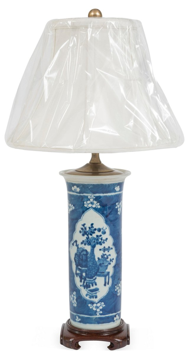 Chinese Blue & White Vase Lamp