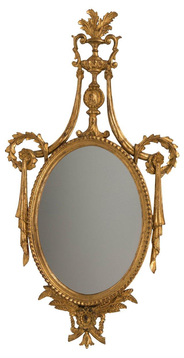 Large Gold Adam-Style Mirror