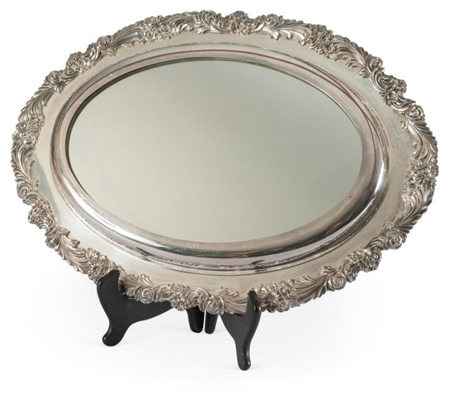 Mirrored Silver Tray